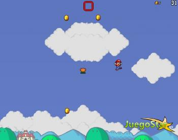 Juego Super Mario saltando