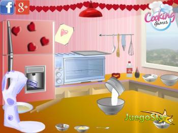 Juego Cocinando galletas de San Valentín