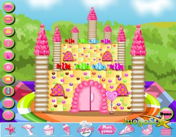 Juego Hacer tarta de castillo de caramelos