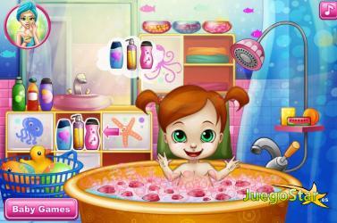 Juego Bañando a la bebé antes de dormir