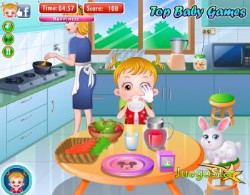 Juego Comida sana para la bebé Hazel