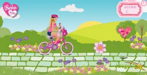 Juego Barbie en bicicleta