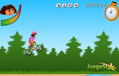 Juego En la bicicleta con Dora
