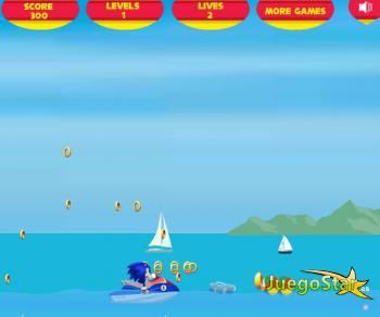 Juego La moto acuática de Sonic