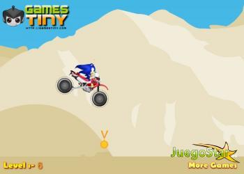Juego Sonic en la carrera del desierto