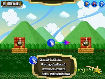 Tumbando el bloque con Sonic