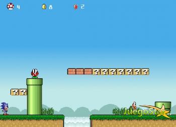 Juego Sonic perdido en el mundo de Mario