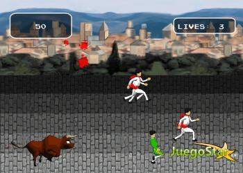 Juego  San Fermin - Escapando de los toros salvajes