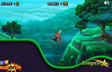 Juego Naruto y su bicicleta de montaña