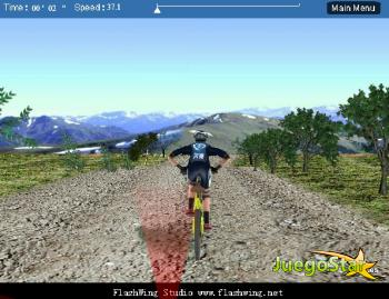 Carrera de bicicletas de montaña en 3D