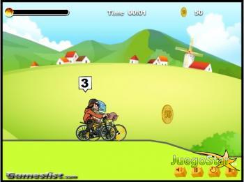 Juego  Demonios montando bicicletas de montaña