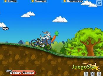 Juego Bugs Bunny y su bicicleta montañera