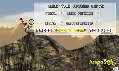 Juego Conduce esta bicicleta de montañas por caminos imposibles