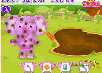 Juego  Cuidando al elefante rosado