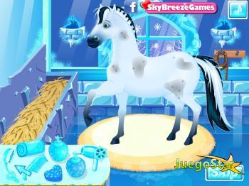 Juego  Juego de vestir el caballo de la princesa anna