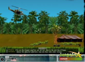 Juego Un helicóptero para una misión de guerra