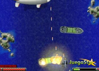 Juego Destruir barcos con un avión de guerra