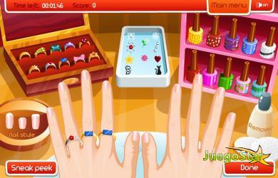 Juego Artista de uñas