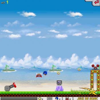 Juego Disparando a Sonic