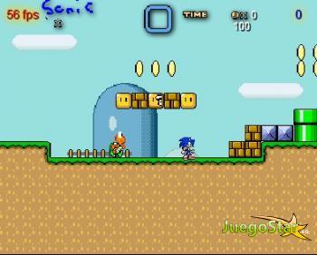 Juego  Sonic en el mundo de Mario