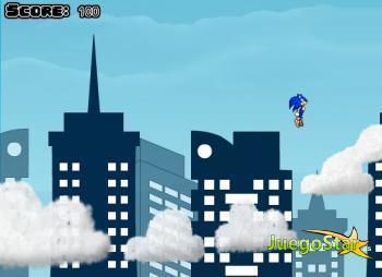 Juego  Sonic por las nubes