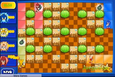 Juego  Sonic y el campo de bomba