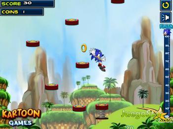 Juego  Saltando en el mundo de Sonic