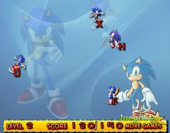 Juego Caída de Letras con Sonic