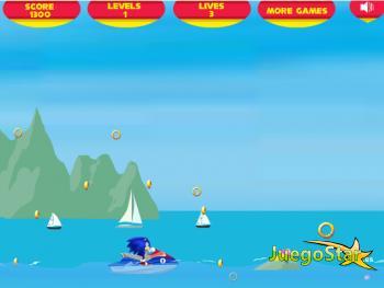 Competencia de Sonic sobre el mar