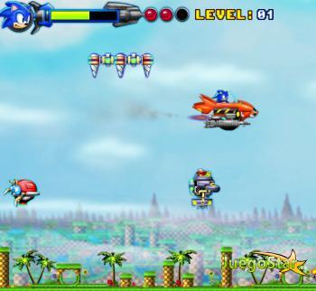 Juego Sonic el piloto