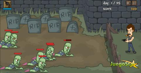 Juego El regreso de los zombies