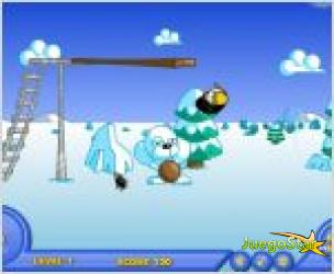 Juego  batea pinguinos