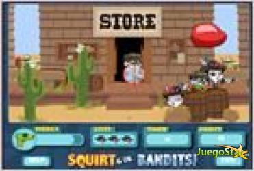 Juego  squirt gun bandits disparando a los bandidos