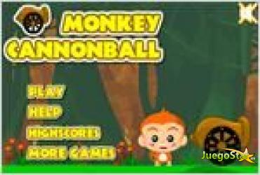 Juego monkey cannonball mono bala de cañon