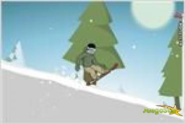 Juego  downhill snowboard 2 descendiendo en tabla de snowboard
