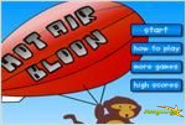 Juego  hot air bloon mono explota globos