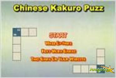 Juego  chinese kakuro puzzle jugando con los numeros