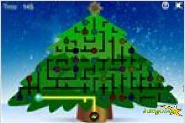 Juego  light up the christmas tree puzzle enciende el arbol de navidad