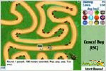 Juego  bloons tower defense 3 monos destruye globos