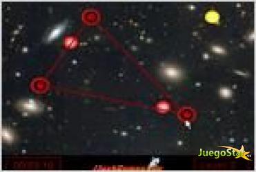 Juego  laser knoten formando constelaciones