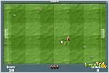 Juego  soccofobia 3.1 esquivando pelotas de futbol