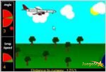 Juego  lander aterriza el avion