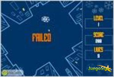 Juego  johnny catch and the snow flakes johnny y la captura de copos de nieve