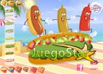 Preparando Hot Dogs en la playa