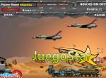 Un avión de guerra en el desierto
