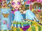 Elsa en el spa de uñas