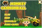 monkey cannonball mono bala de cañon